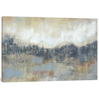 'Cool Grey Horizon I' Painting Print on Canvas - Wayfair