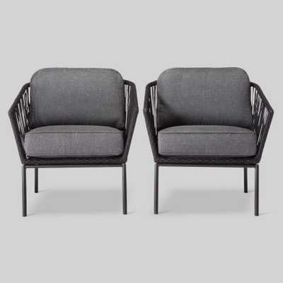 Standish 2pk Patio Club Chair Black/Gray - Project 62 - Target