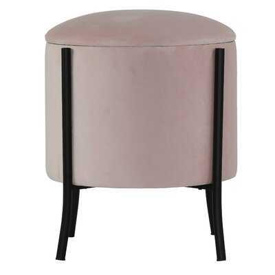 Mercer41 Seattle Storage Ottoman, Blush Pink Velvet - Wayfair