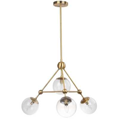 Safavieh Bain 4-Light Gold Pendant - Home Depot