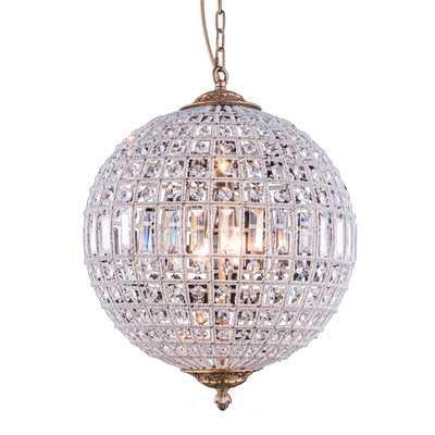 Nazareth 3-Light Crystal Chandelier - Wayfair