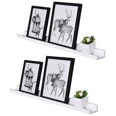 Dulin Photo Ledge Picture Display Floating Shelf - Set of 2 - Wayfair