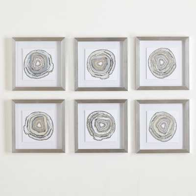 Geodes - 6 Piece Picture Frame Graphic Art Print Set on Paper - AllModern