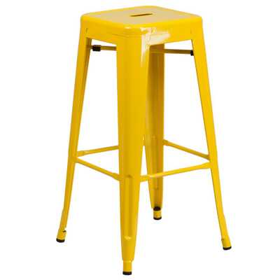 30 in. Yellow Bar Stool - Home Depot
