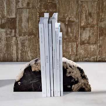 Petrified Wood Bookends - West Elm