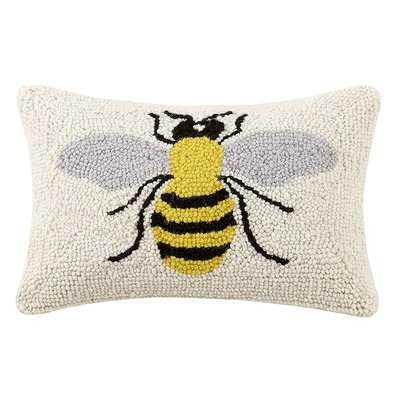 Newington Bee Hook Wool Throw Pillow - Wayfair