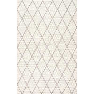Diamond Trellis Belia Shag Ivory 8 ft. 6 in. x 11 ft. 6 in. Area Rug - Home Depot