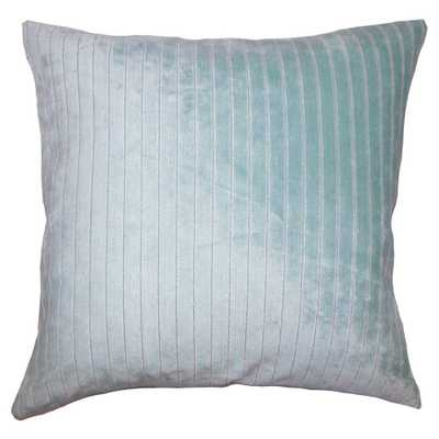 "Light Blue Ticking Square Throw Pillow (20""x20"") - The Pillow Collection, Mustard Seed - Target"