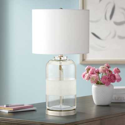 Kathy Ireland Moderne Sandblast Texture Glass Table Lamp - Style # 55T80 - Lamps Plus