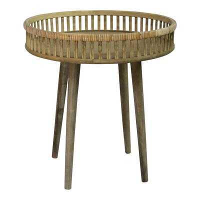 Melrose Rattan Side Table - Wayfair