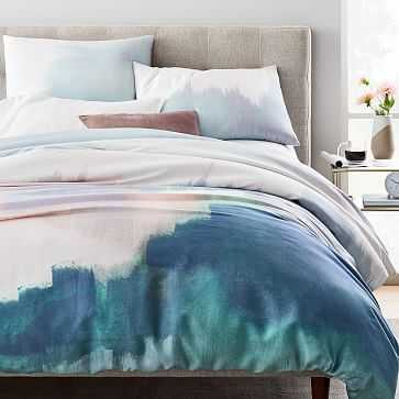 TENCEL Abstract Landscape Duvet Cover, Full/Queen, Multi - West Elm
