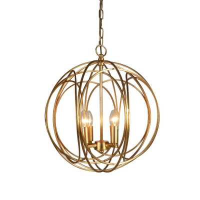 Y Decor 4-Light Gold Chandelier - Home Depot