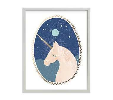 Unicorn Dreams Wall Art by Minted(R) 8x10, Gray - Pottery Barn Kids