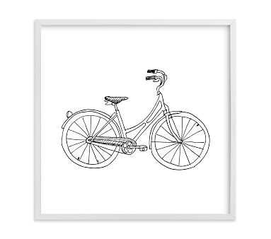 Minted Bicycle by Phrosne Ras, White, 11x11 - Pottery Barn Kids