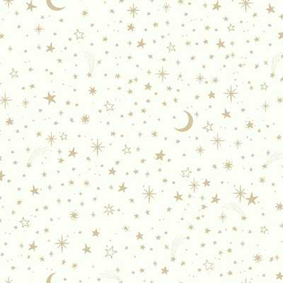 28.18 sq. ft. Twinkle Little Star Gold Peel and Stick Wallpaper - Home Depot