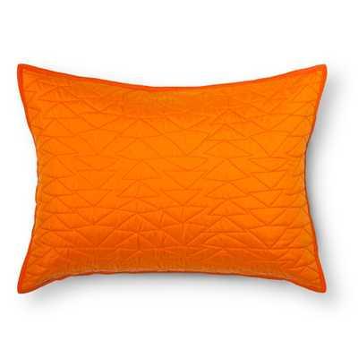 Triangle Stitch Pillow Sham (Standard) Orange - Pillowfort - Target