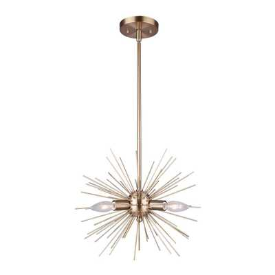 CANARM Orla 3-Light Gold Chandelier - Home Depot