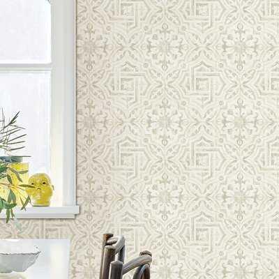 "Jovanny Spanish Tile 33' L x 20.5"" W Geometric Wallpaper Roll - Birch Lane"