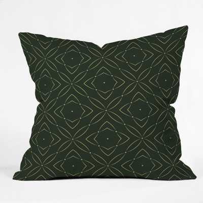 Marta Barragan Camarasa Vintage Emerald Pattern Square Throw Pillow Green - Deny Designs - Target