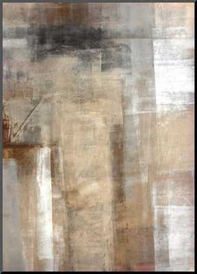 Brown and Grey Abstract Art Painting - art.com