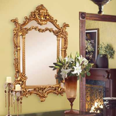 Arlington Gold Baroque Mirror - Home Depot
