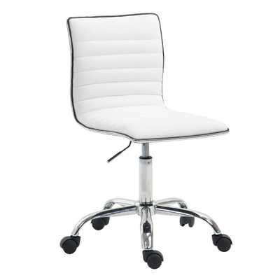 Poly and Bark Risa Task White Chair - Home Depot