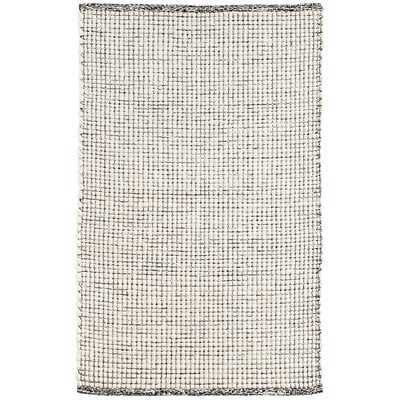 Network Hand-Woven Black Area Rug - Wayfair