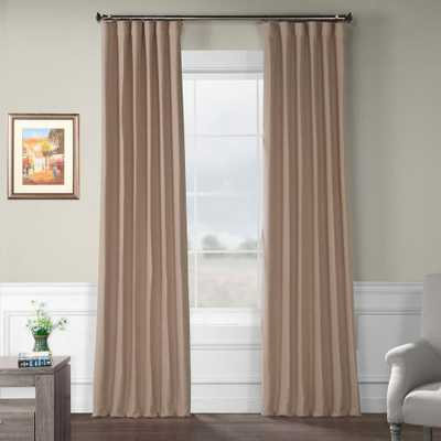 Exclusive Fabrics & Furnishings Abalone Pink Bellino Blackout Curtain - 50 in. W x 96 in. L - Home Depot