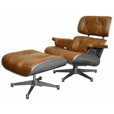 Hamilton Lounge Chair and Ottoman - Wayfair