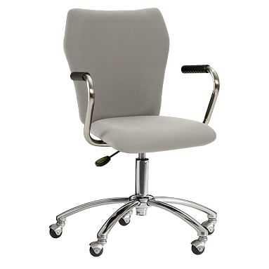 Airgo Twill Chair + Arms, Light Gray - Pottery Barn Teen