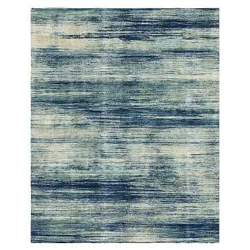 Verve Rug, Blue Teal, 8'x10' - West Elm