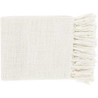 Madelyn Ivory Acrylic Throw - Home Depot