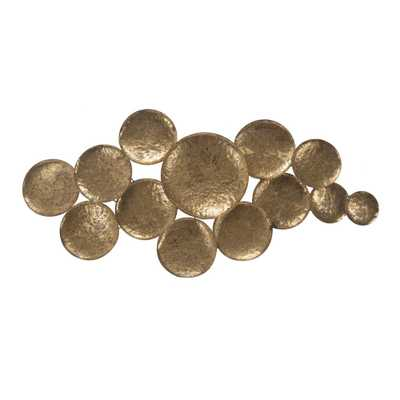 A & B Home Aden Gold Wall Sculpture - Home Depot