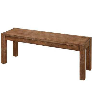 Dessie Wood Bench - Wayfair