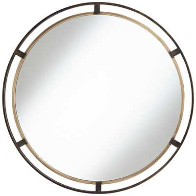 "Uttermost Crest Bronze and Gold 34"" Round Wall Mirror - Style # 42A41 - Lamps Plus"