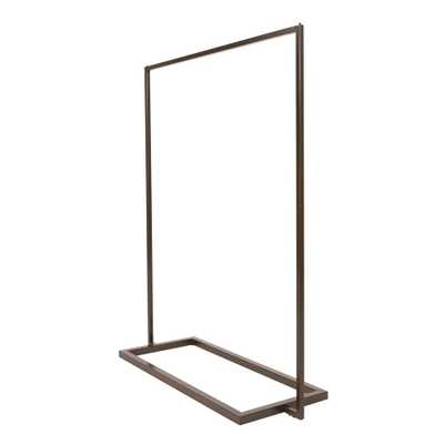 Econoco Linea 54 in. W x 66 in. H Statuary Bronze Garment Rack - Home Depot