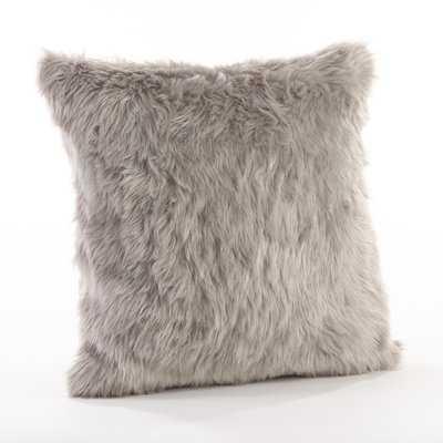 Branchville Square Faux Fur Throw Pillow - AllModern