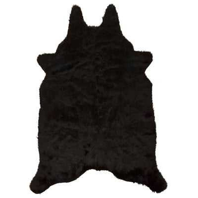 SonnierFaux Sheepskin Black Area Rug - Wayfair