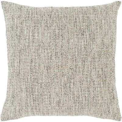 Kelton Solid & Border Light Gray Pillow - Wayfair