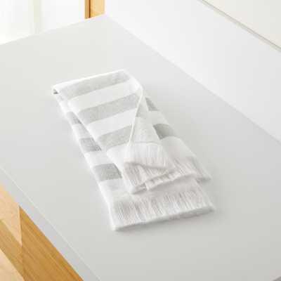 Cedros Grey Hammam Hand Towel - Crate and Barrel