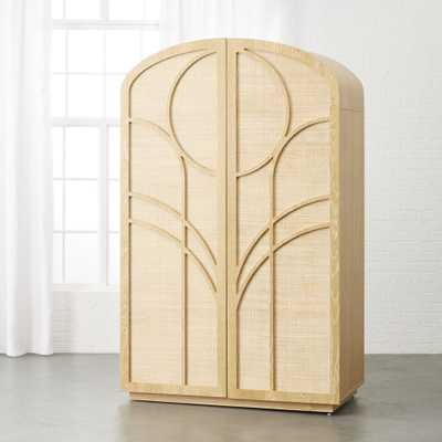 Gracia Cane and Wood Wardrobe - CB2