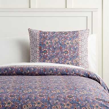 Paisley Floral Organic Duvet Cover, Twin/Twin XL, Purple Multi - Pottery Barn Teen