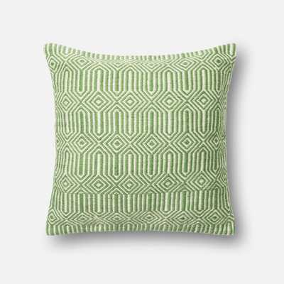 """PILLOWS - GREEN / IVORY - 22"""" X 22"""" Cover Only - Loma Threads"""