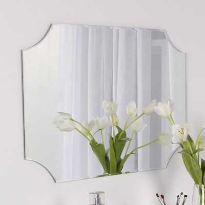 Portis Frameless Rectangle Scalloped Beveled Wall Mirror - Wayfair
