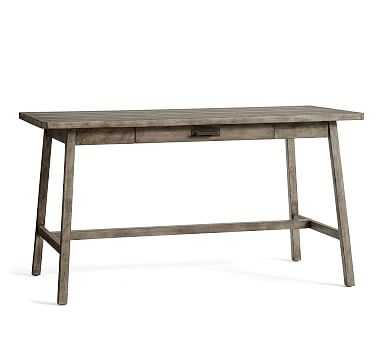 Mateo Large Rustic Desk, Salvaged Gray - Pottery Barn