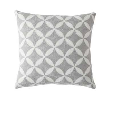 Morgan Home 18 in. Ava Grey Geometric Throw Pillow Cover - Home Depot