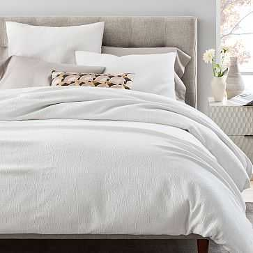 TENCEL Cotton Matelasse Duvet Cover - West Elm