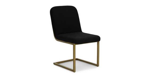 Alchemy Pure Black Dining Chair - Article