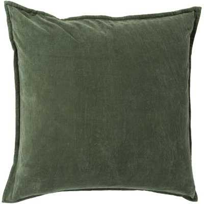Bradford Smooth 100% Cotton Velvet Throw Pillow - AllModern