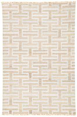 Holmes Handmade Geometric Silver/ Taupe Area Rug (8' X 10') - Collective Weavers